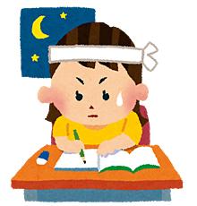テスト勉強中の女の子